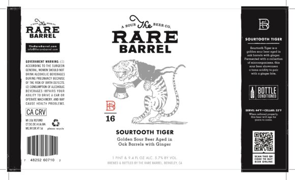 Rare Barrel Sourtooth Tiger