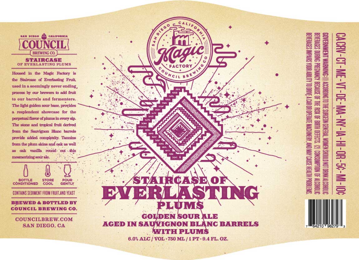 Council Magic Factory – Staircase of Everlasting Plums 750ML | Bine